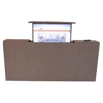 Voetenbord met TV lift - Bruin